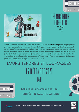 Ciné-Club enfants : Loups tendres et loufoques
